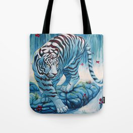 Tiger by the Waterfall Tote Bag