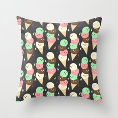 Ice Cream Social Throw Pillow
