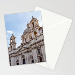 Sant Agnese Church in the Piazza Navona - Rome, Italy Stationery Cards