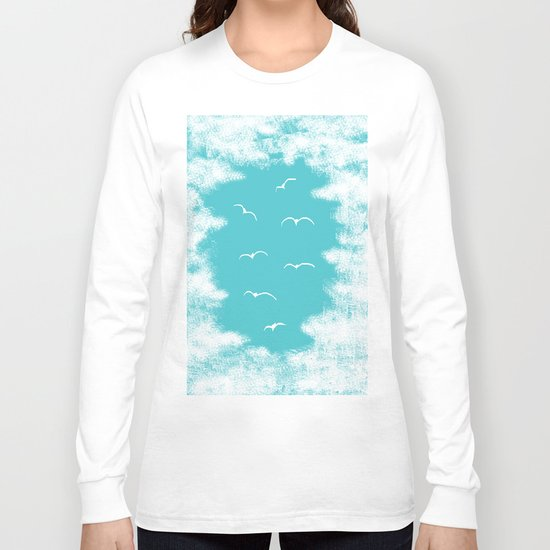Seabirds and Clouds Long Sleeve T-shirt