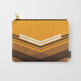 Brown Stripes Carry-All Pouch