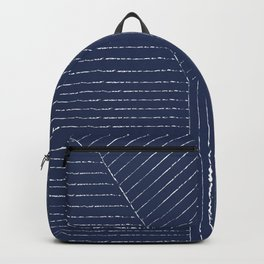 Lines / Navy Backpack