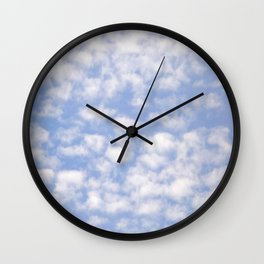 Summer Sky With White Sheep Shaped Clouds #decor #society6 Wall Clock