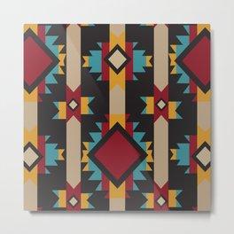 American Native Pattern No. 215 Metal Print
