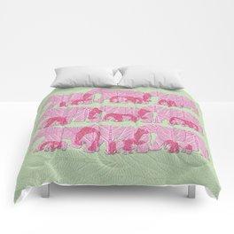Pink Elephant Family Comforters