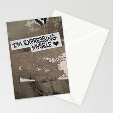 i'm expressing myself Stationery Cards