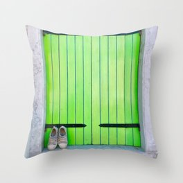 Barefoot In Venice Throw Pillow