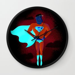 Look! Up in the sky! Wall Clock