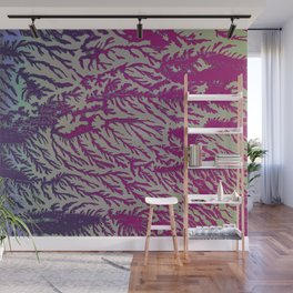 Eggplant & Fuscia Cedar Wall Mural