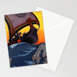 Scandinavia Land of the Vikings - Vintage Travel Stationery Cards