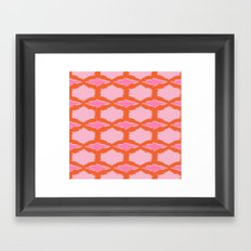Ikat Diamond Framed Art Print