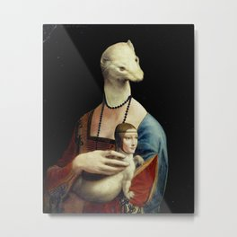 Ermine with Lady Metal Print
