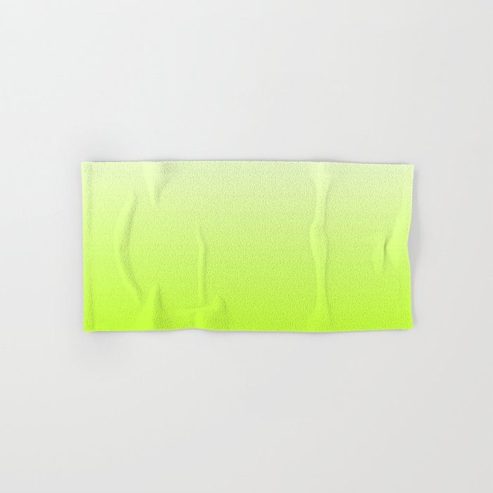 White and Lime Green Gradient 027 Hand & Bath Towel