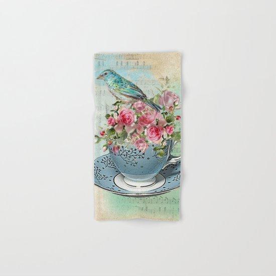Tea Flowers #5 Hand & Bath Towel