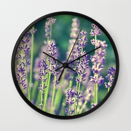 Lavender 136 Wall Clock