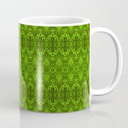 Emerald Damask Pattern Coffee Mug