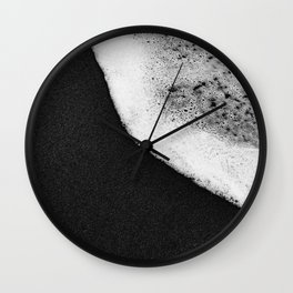 Black Sand / Landscape Photography Wall Clock