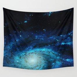 Teal Pinwheel Galaxy Wall Tapestry