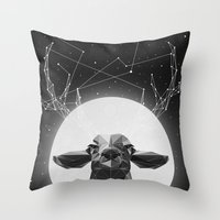 deer Throw Pillows featuring The Banyan Deer by Davies Babies