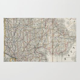 Vintage Map of Michigan (1901) 3 Rug