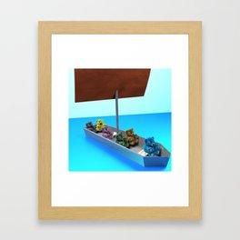 Castaway Bears Framed Art Print
