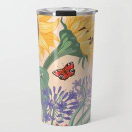 Sunflower Bees Travel Mug