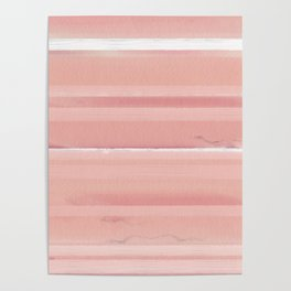 Peach Ombre Striped Wall Pattern Poster