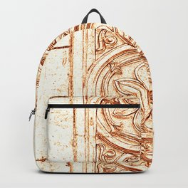 carved stonework Backpack