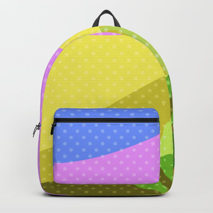Multi-colored pattern . Tropics . Backpack