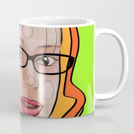 Fashion girl portrait illustration Coffee Mug