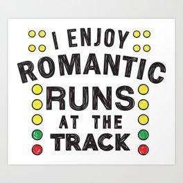 Romantic runs at the track Art Print