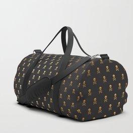 BLACK & GOLD SKULLS ALL OVER PRINT SMALL Duffle Bag