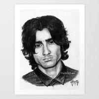 Zayn Malik portait Art Print