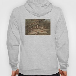 Vintage Painting of Caught Brook Trout (1868) Hoody