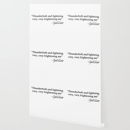 Galileo Quote Thunderbolt and Lightning black text Wallpaper
