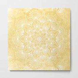 Mandala, Floral, Sun, Wall Art Boho Metal Print