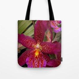 Rose Madder Orchids Tote Bag