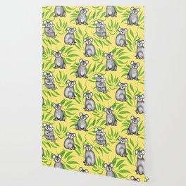 Koala Pattern Charitable Art (Yellow Background) Wallpaper