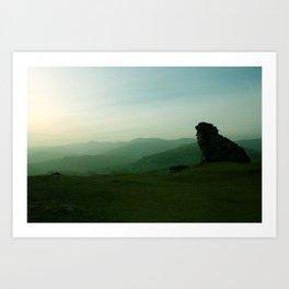 Sunset at Dinas Bran Art Print