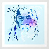 gandalf Art Prints featuring Gandalf by BIG Colours