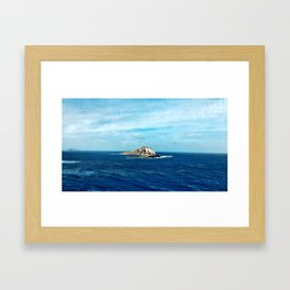 Lava Peeking Out of the Water Framed Art Print