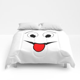 Funny face - black and red. Comforters