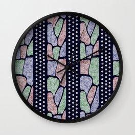African Batik Tie Dye Pattern Wall Clock