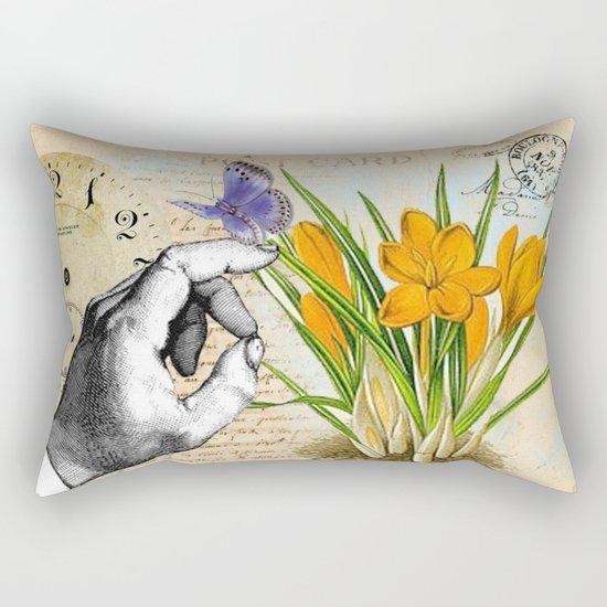 Vintage Crocus Flower #10 Rectangular Pillow