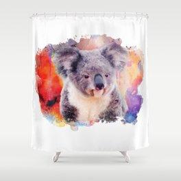 Watercolor Koala Shower Curtain