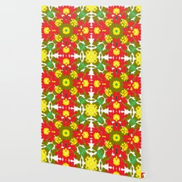 Colorful Leaves Mandala Wallpaper