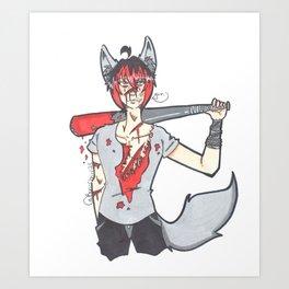 A Bloody Mess (Taka)  Art Print