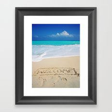 Welcome Home Beach Bum Framed Art Print