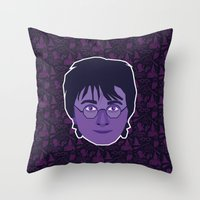 harry Throw Pillows featuring Harry by Kuki