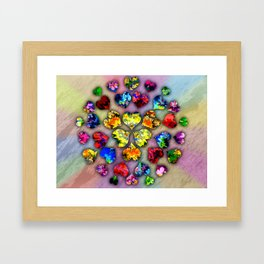 heart beat II Framed Art Print